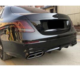Диффузор заднего бампера AMG 6.3 в сборе с насадками для Mercedes-Benz E-Class W213